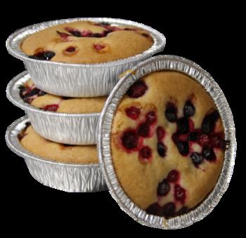 Allergenen vrije cake met rode vruchten