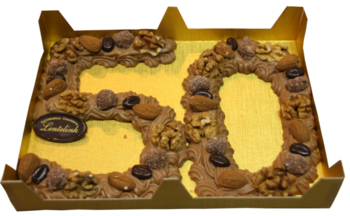 Chocolade cijfer met noten